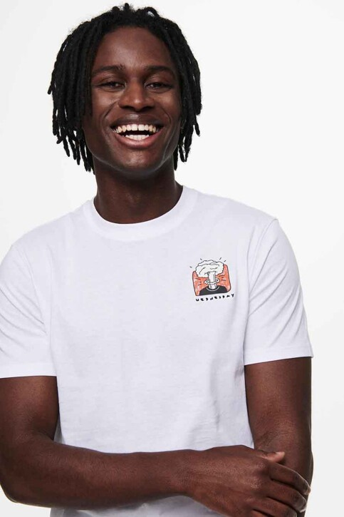 ONLY & SONS® T-shirts (korte mouwen) wit 22019089_WHITE img4