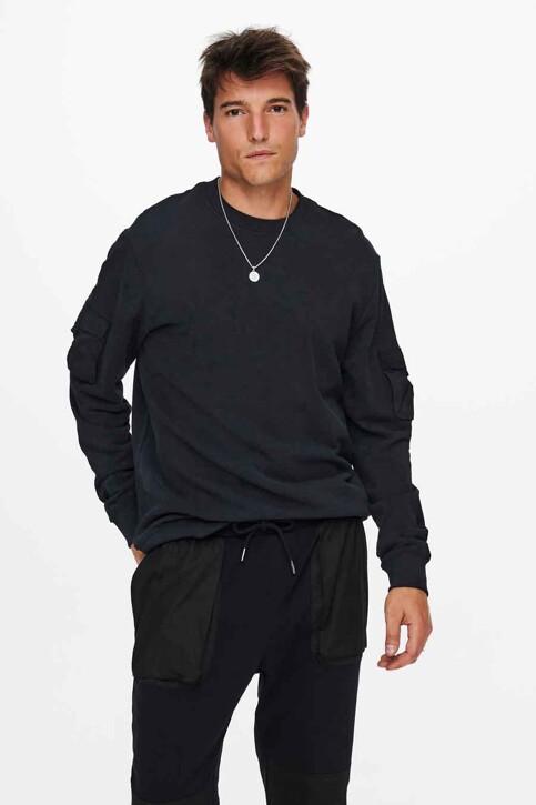 ONLY & SONS® Sweaters met ronde hals zwart 22019096_BLACK img1