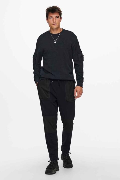 ONLY & SONS® Sweaters met ronde hals zwart 22019096_BLACK img4