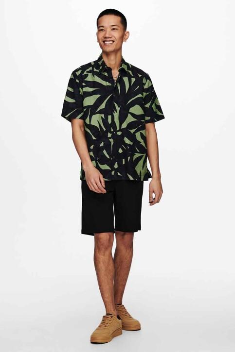 ONLY & SONS® Hemden (korte mouwen) groen 22019186_HEDGE GREEN img2