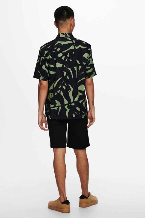 ONLY & SONS® Hemden (korte mouwen) groen 22019186_HEDGE GREEN img3