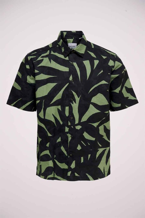 ONLY & SONS® Hemden (korte mouwen) groen 22019186_HEDGE GREEN img5