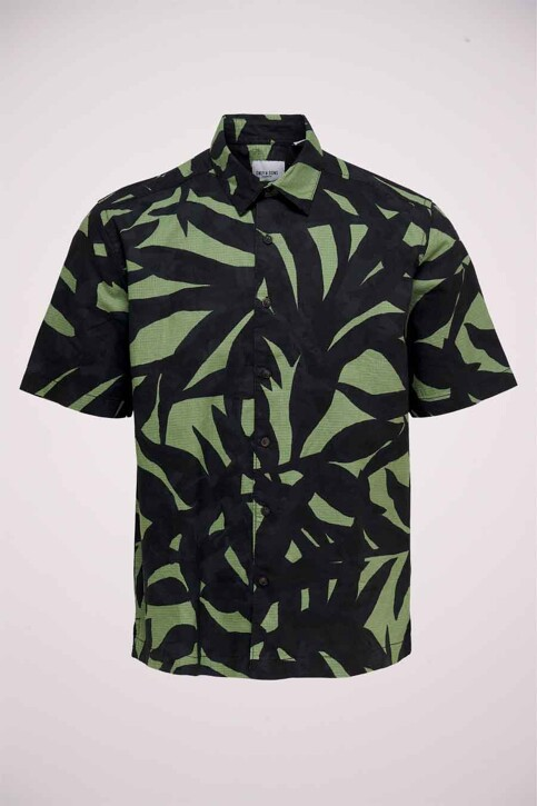 ONLY & SONS® Hemden (korte mouwen) groen 22019186_HEDGE GREEN img6
