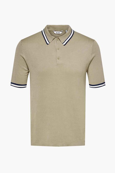 ONLY & SONS® Polo's taupe 22019502_CHINCHILLA img1