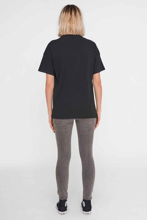 NOISY MAY T-shirts (korte mouwen) zwart 27016251_BLACK FRONT PRI img3