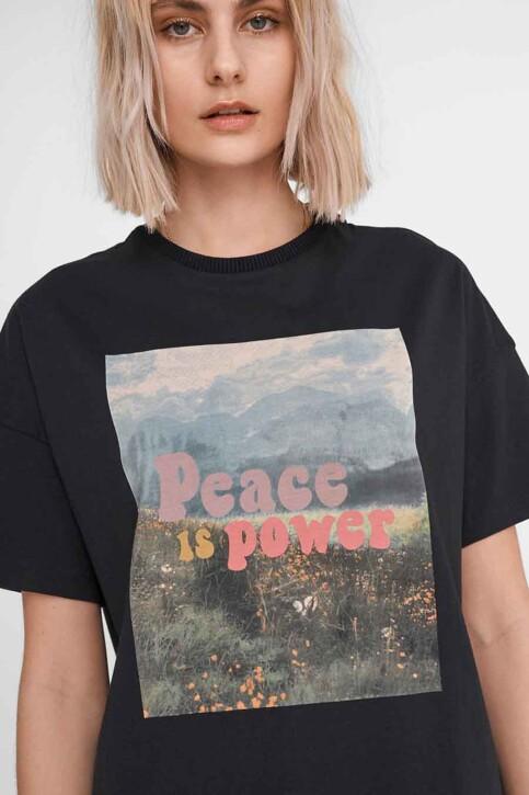 NOISY MAY T-shirts (korte mouwen) zwart 27016251_BLACK FRONT PRI img4