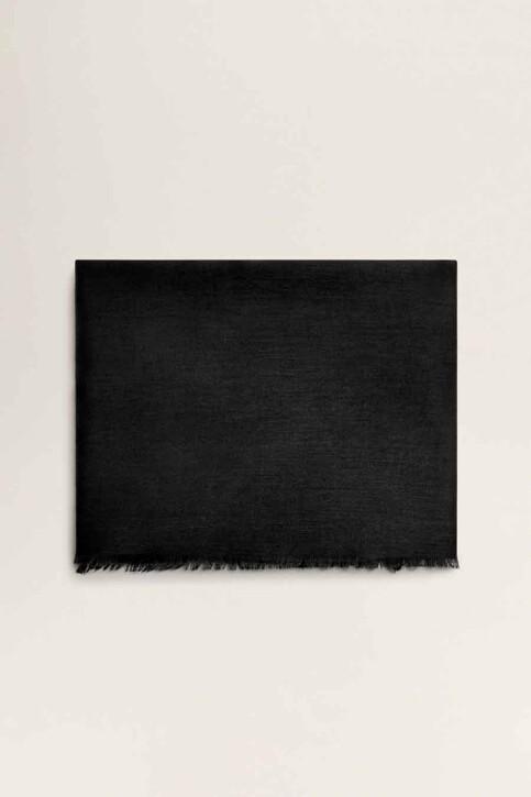 Mango Foulards noir 43065781_MNG_19_BLACK img1