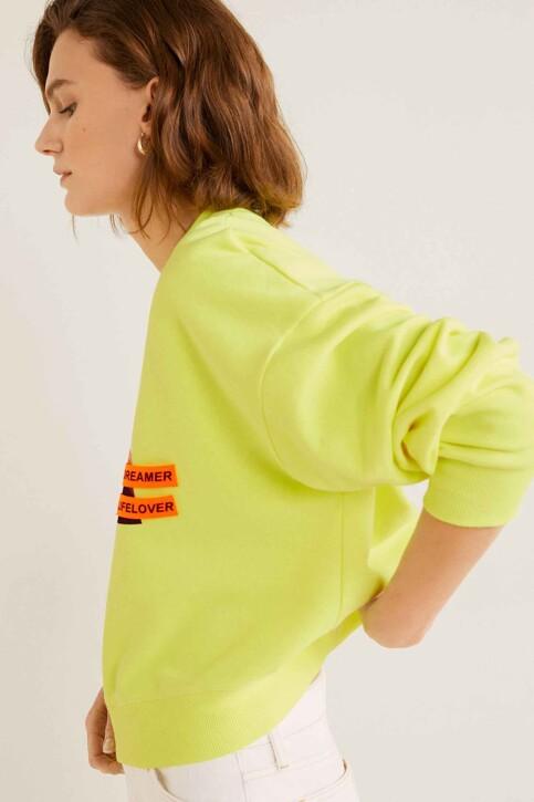 Mango Sweats col O jaune 53061047_MNG_19_YELLOW img5