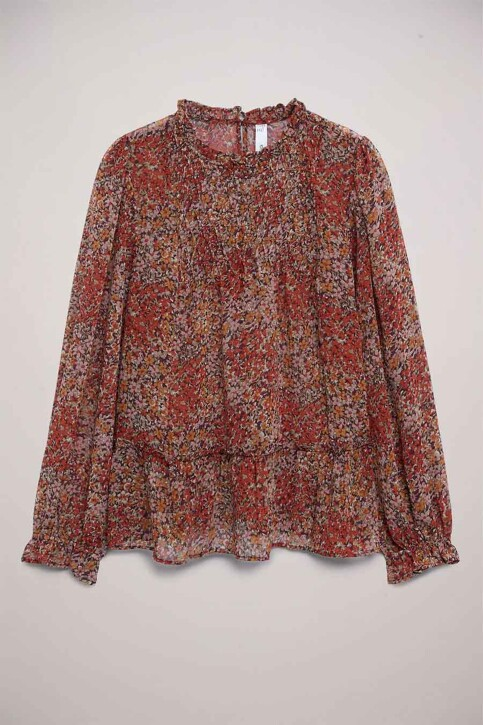 Mango Blouses (lange mouwen) rood 87070530 MNG 21_RUST COPPER img1