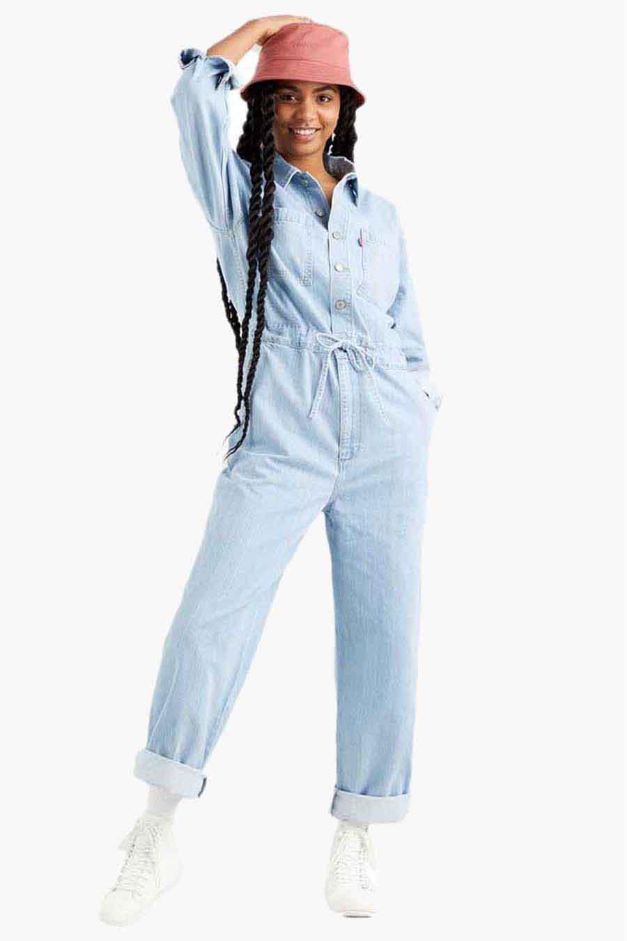 Levi's® Jumpsuit, Denim, Dames, Maat: L/M/XS