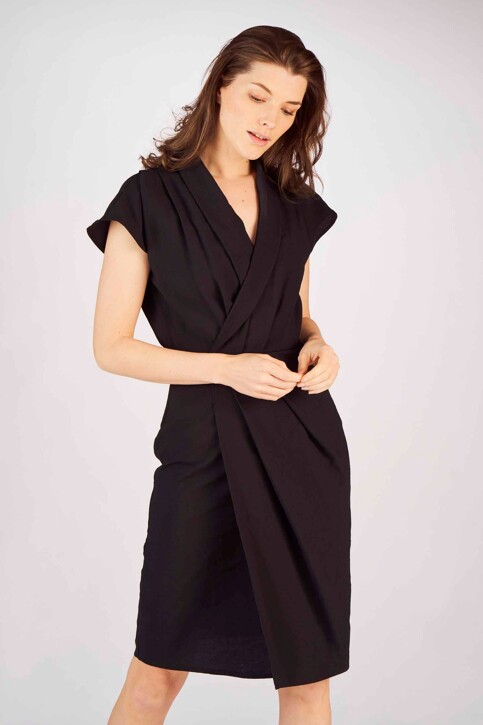Astrid Black Label Robes 3/4 noir ABL191WT 050_BLACK img1