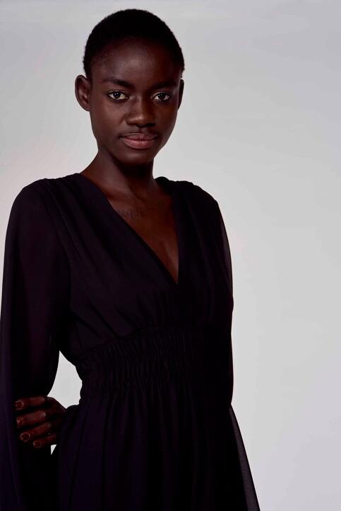 Astrid Black Label Jurken (lang) zwart ABL211WT 010_BLACK img4