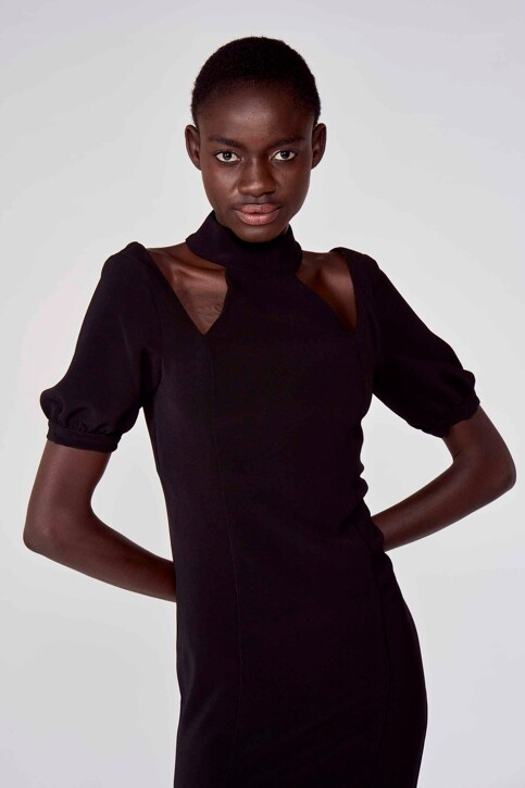Astrid Black Label Jurken (kort) zwart ABL211WT 021_BLACK img1
