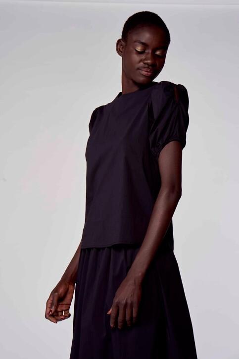 Astrid Black Label Blouses (korte mouwen) zwart ABL211WT 023_BLACK img4