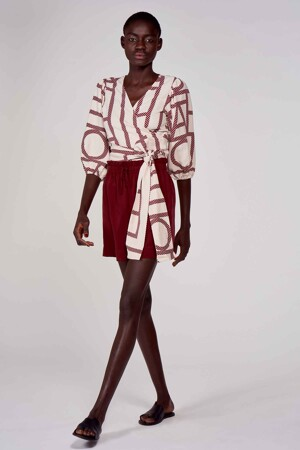 Astrid Black Label Shorts bordeaux ABL211WT 034_MERLOT img1