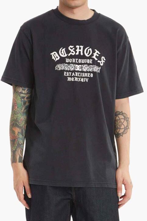 DC SHOES T-shirts (korte mouwen) zwart ADYZT05050BAC_BAC BLACK ACID img1