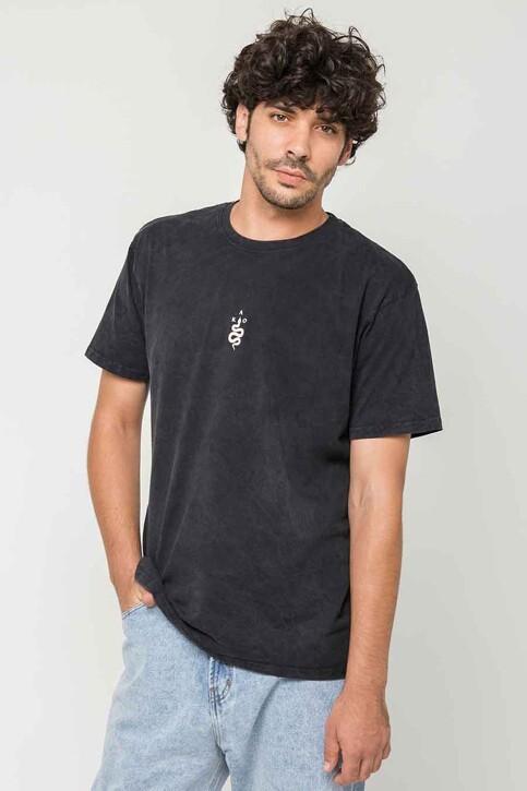 KAOTIKO T-shirts (korte mouwen) zwart AJ08401G002_BLACK img1