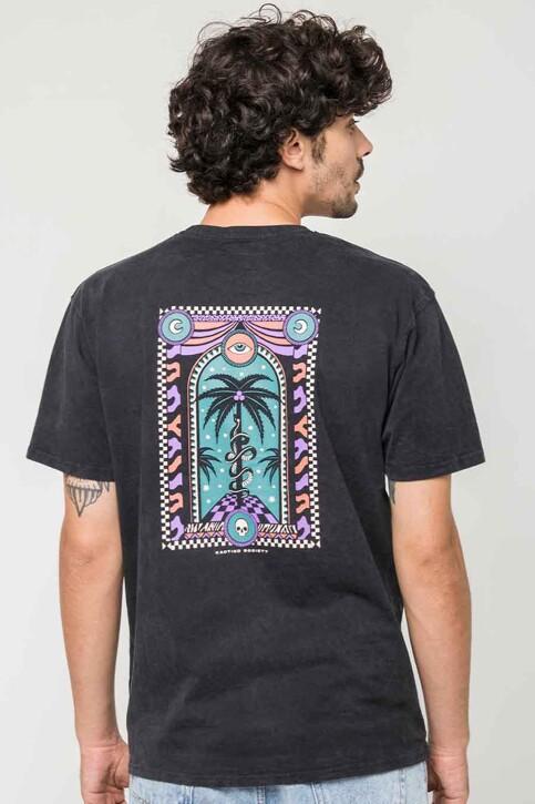 KAOTIKO T-shirts (korte mouwen) zwart AJ08401G002_BLACK img2