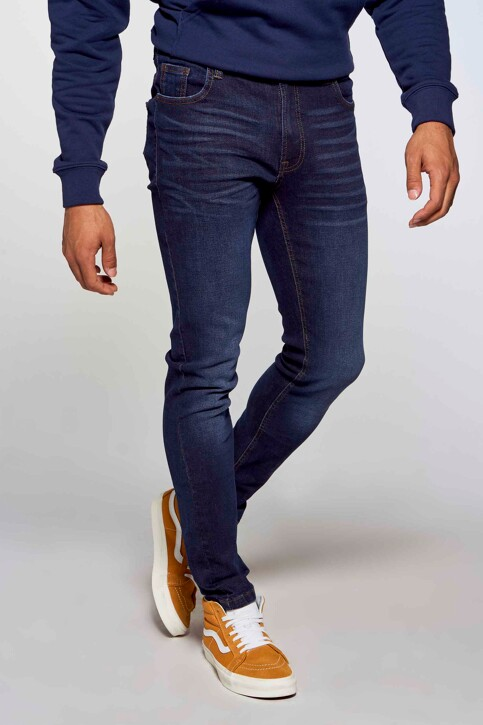 DENIM PROJECT Jeans slim denim AW2015043_043 DARK BLUE img3