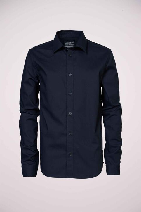 Petrol Industries® Hemden met lange mouwen blauw B3000SIL434_5091 DEEP NAVY img1