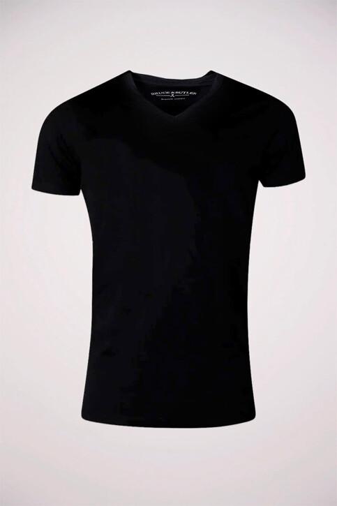 Bruce & Butler T-shirts (manches courtes) noir BB LEANDER SS V 1P_BLACK img1