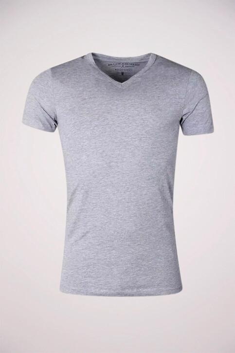 Bruce & Butler T-shirts (korte mouwen) grijs BB LEANDER SS V 1P_LIGHT GREY img1
