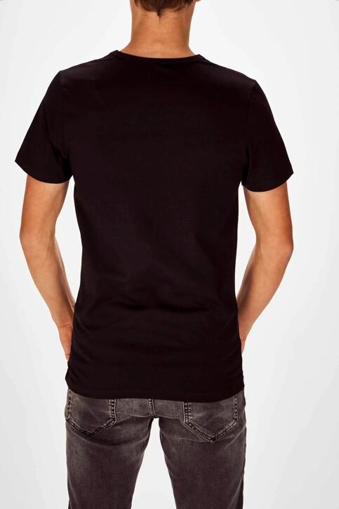 Bruce & Butler T-shirts (korte mouwen) zwart BB LENNART SS O 1P_BLACK img2