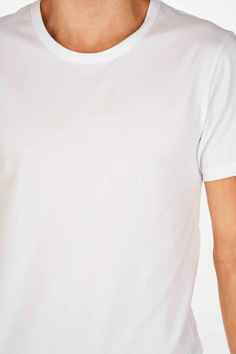 Bruce & Butler T-shirts (korte mouwen) wit BB LENNART SS O 1P_WHITE img2