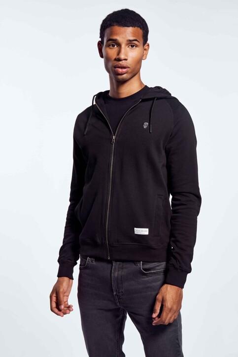 BLACK AND GOLD Sweaters met kap zwart BGMNOOSSW06BG01_BG01 BLACK img1