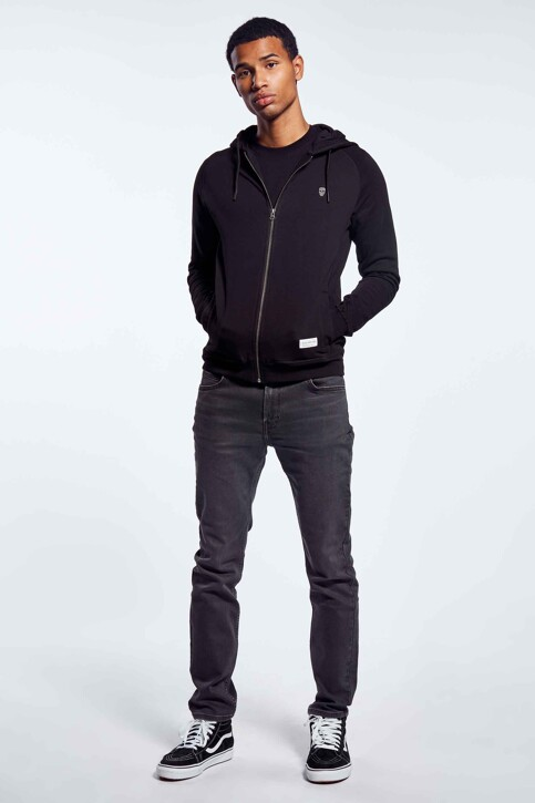 BLACK AND GOLD Sweaters met kap zwart BGMNOOSSW06BG01_BG01 BLACK img2