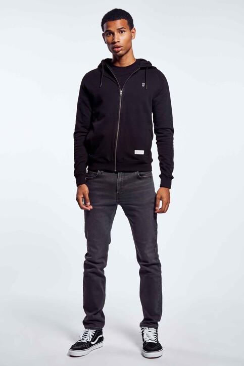 BLACK AND GOLD Sweaters met kap zwart BGMNOOSSW06BG01_BG01 BLACK img3