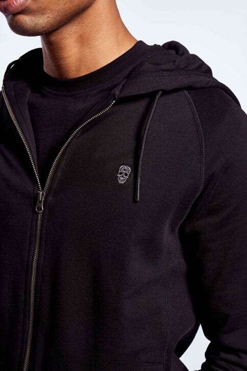 BLACK AND GOLD Sweaters met kap zwart BGMNOOSSW06BG01_BG01 BLACK img4