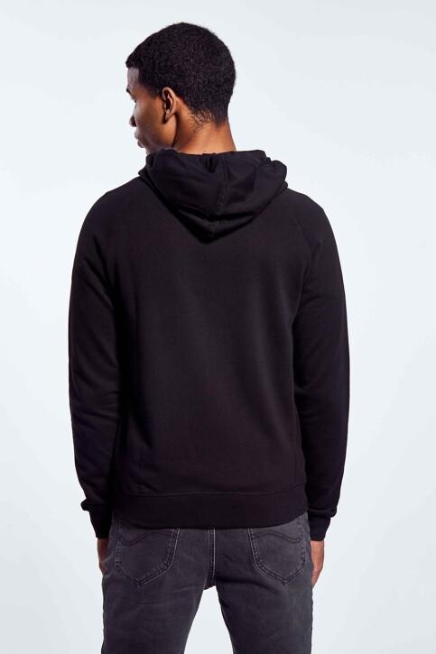 BLACK AND GOLD Sweaters met kap zwart BGMNOOSSW06BG01_BG01 BLACK img5