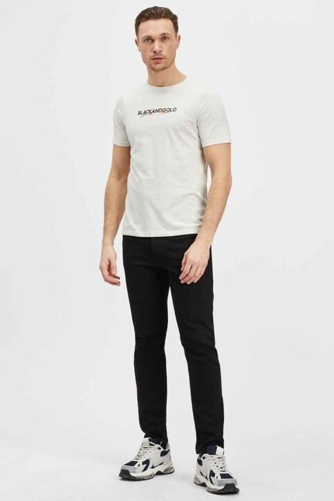 BLACK AND GOLD T-shirts (korte mouwen) ecru BGMTS114_ECRU MELANGE img1