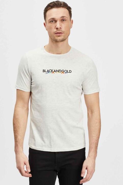 BLACK AND GOLD T-shirts (korte mouwen) ecru BGMTS114_ECRU MELANGE img2