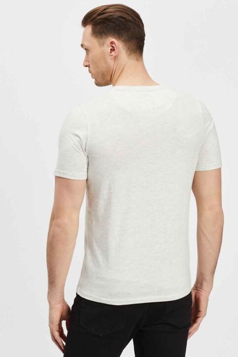 BLACK AND GOLD T-shirts (korte mouwen) ecru BGMTS114_ECRU MELANGE img3