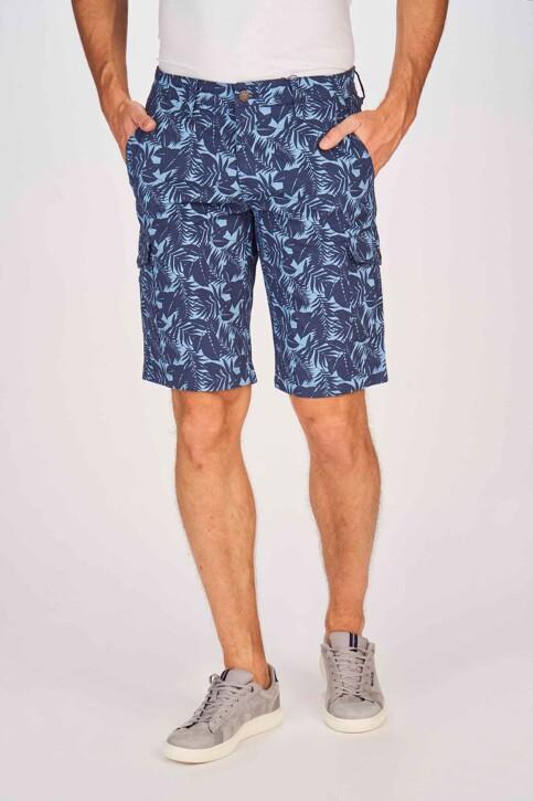 Bruce & Butler Shorts blauw BRB191MT 002_SEA CAMEO LEAF img1