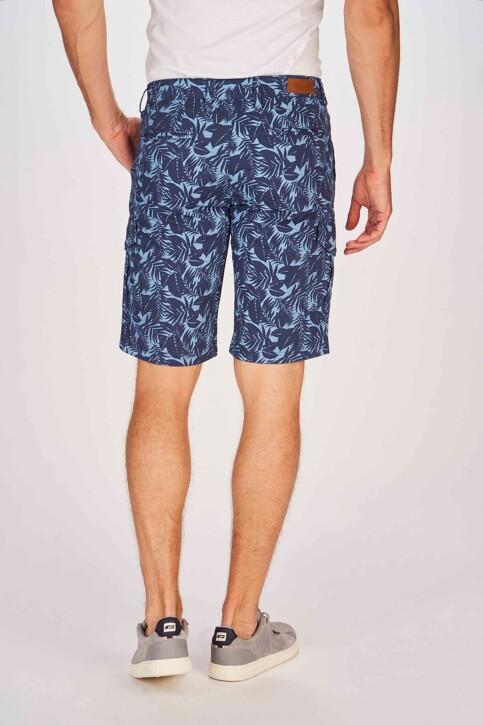Bruce & Butler Shorts blauw BRB191MT 002_SEA CAMEO LEAF img3