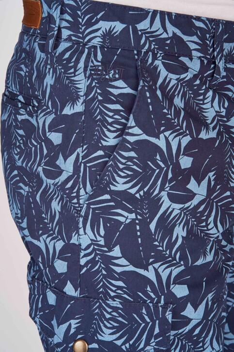 Bruce & Butler Shorts blauw BRB191MT 002_SEA CAMEO LEAF img4