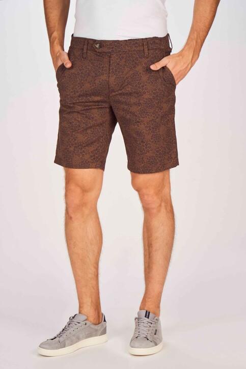 Bruce & Butler Shorts bruin BRB191MT 004_WALNUT PRINT img1