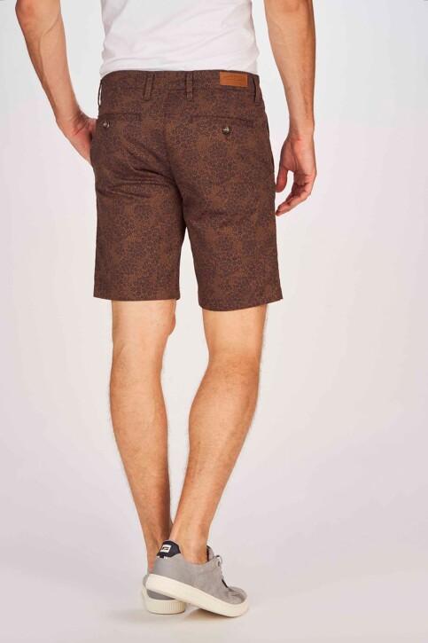Bruce & Butler Shorts bruin BRB191MT 004_WALNUT PRINT img3