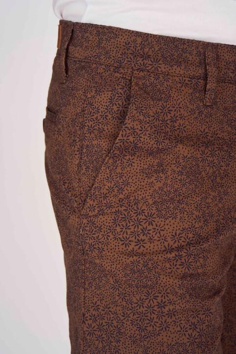 Bruce & Butler Shorts bruin BRB191MT 004_WALNUT PRINT img4