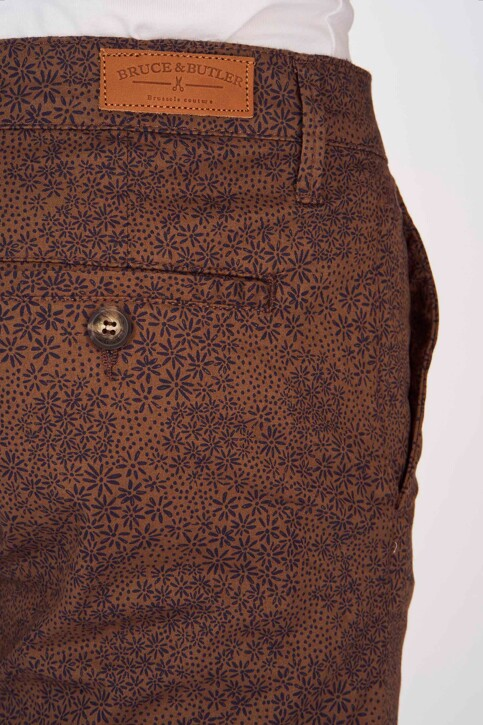 Bruce & Butler Shorts bruin BRB191MT 004_WALNUT PRINT img5