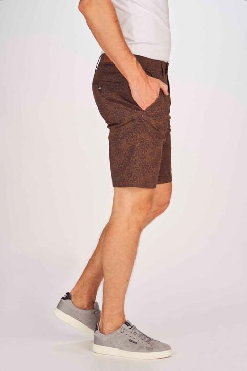 Bruce & Butler Shorts bruin BRB191MT 004_WALNUT PRINT img6