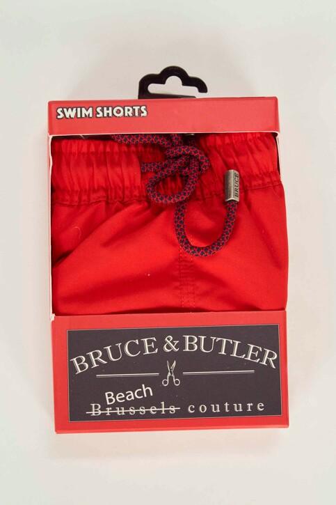 Bruce & Butler Slips de bain rouge BRB191MT 007_RED img4