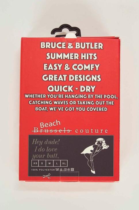 Bruce & Butler Slips de bain rouge BRB191MT 007_RED img5