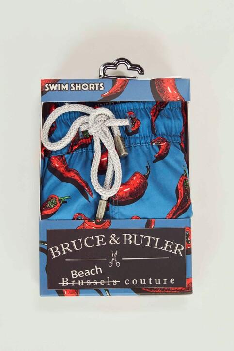 Bruce & Butler Slips de bain rouge BRB191MT 008_CHILLI img4