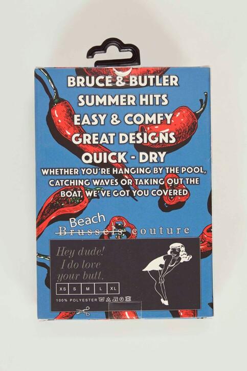 Bruce & Butler Slips de bain rouge BRB191MT 008_CHILLI img5