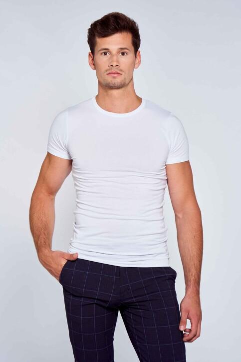 Bruce & Butler T-shirts (korte mouwen) wit BRB194MT 025_WHITE img1