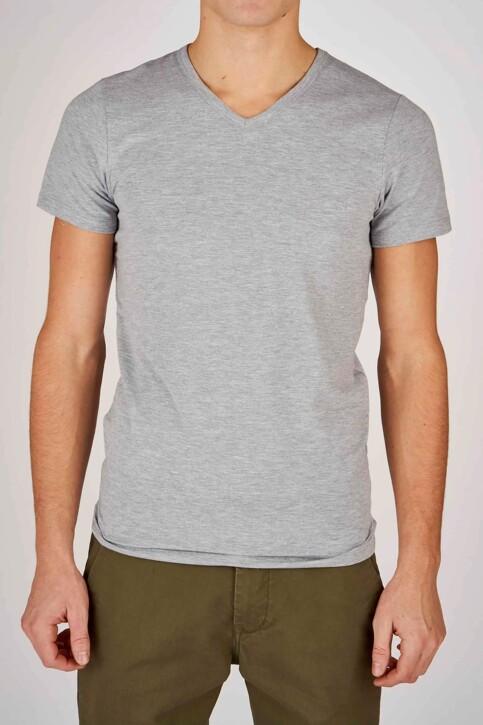 Bruce & Butler T-shirts (korte mouwen) grijs BRB194MT 028_LIGHT GREY img1